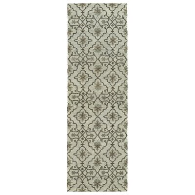 Fischer Hand-Tufted Mint Area Rug Rug Size: Runner 26 x 8
