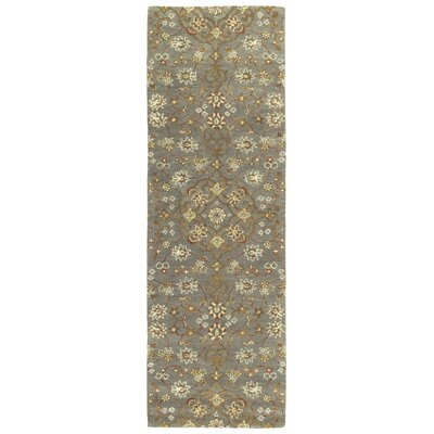 Fischer Hand-Tufted Pewter Green Area Rug Rug Size: Rectangle 2 x 3