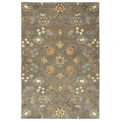 Fischer Hand-Tufted Pewter / Green Area Rug Rug Size: 8 x 10