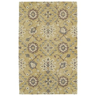 Fairhaven Handmade Gold Indoor/Outdoor Area Rug Rug Size: Rectangle 5' x 7'6