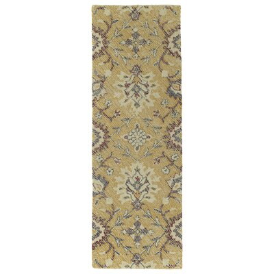 Fairhaven Handmade Gold Indoor/Outdoor Area Rug Rug Size: Runner 2' x 6'