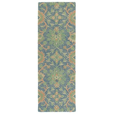 Fairhaven Handmade Blue Indoor/Outdoor Area Rug Rug Size: Runner 2 x 6