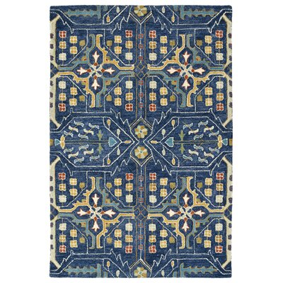 Dartmoor Hand-Tufted Navy Area Rug Rug Size: 5 x 76