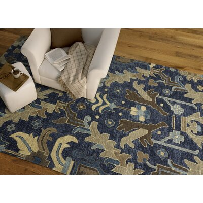 Dartmoor Hand-Tufted Navy Area Rug Rug Size: 2 x 3