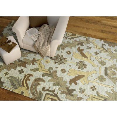 Dartmoor Hand-Tufted Silver Area Rug Rug Size: Rectangle 76 x 9