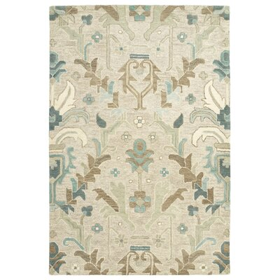 Dartmoor Hand-Tufted Oatmeal Area Rug Rug Size: Rectangle 5 x 76
