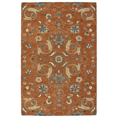 Fischer Hand-Tufted Paprika Area Rug Rug Size: Rectangle 5 x 79