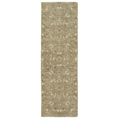 Fischer Hand-Tufted Light Brown Area Rug Rug Size: Runner 26 x 8