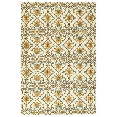 Fischer Hand-Tufted Beige Area Rug Rug Size: Rectangle 4 x 6