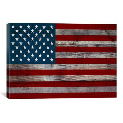 'U.S. Constitution - American Flag', Wood Boards Graphic Art on Canvas