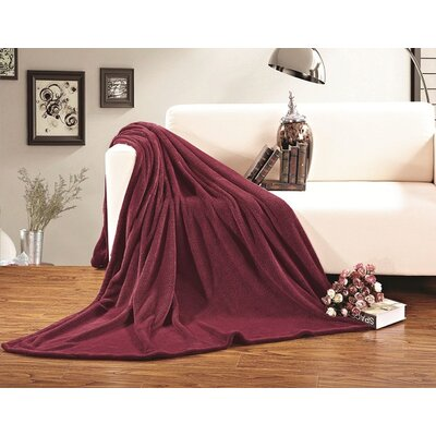 Corbett All Season Super Plush Luxury Fleece Throw Blanket Color: Burgundy, Size: King/California King