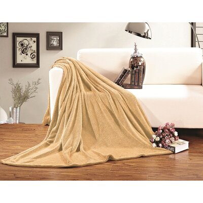 Corbett All Season Super Plush Luxury Fleece Throw Blanket Color: Gold, Size: King/California King