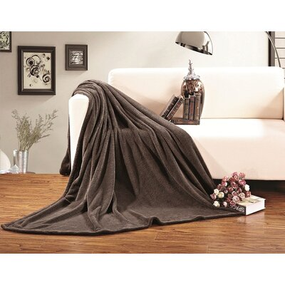 Corbett All Season Super Plush Luxury Fleece Throw Blanket Color: Brown, Size: King/California King