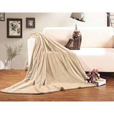 Corbett All Season Super Plush Luxury Fleece Throw Blanket Color: Beige, Size: Full/Queen