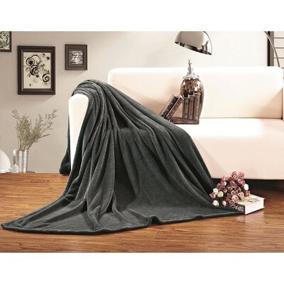 Corbett All Season Super Plush Luxury Fleece Throw Blanket Color: Gray, Size: King/California King