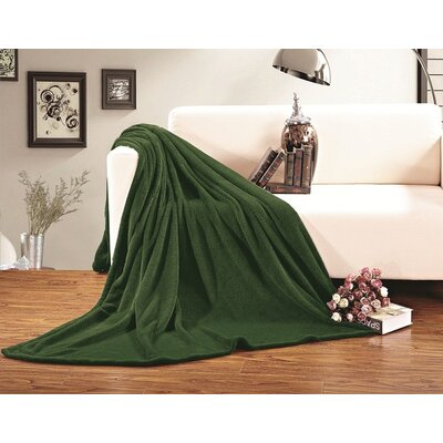 Corbett All Season Super Plush Luxury Fleece Throw Blanket Color: Green, Size: King/California King