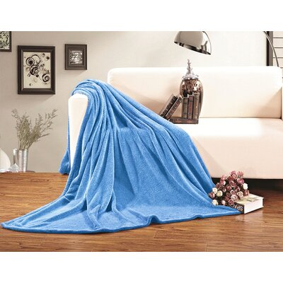 Corbett All Season Super Plush Luxury Fleece Throw Blanket Color: Light Blue, Size: King/California King