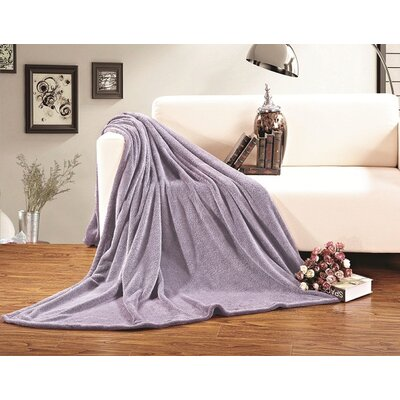 Corbett All Season Super Plush Luxury Fleece Throw Blanket Color: Lilac, Size: King/California King