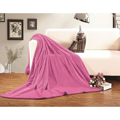 Corbett All Season Super Plush Luxury Fleece Throw Blanket Color: Pink, Size: Full/Queen