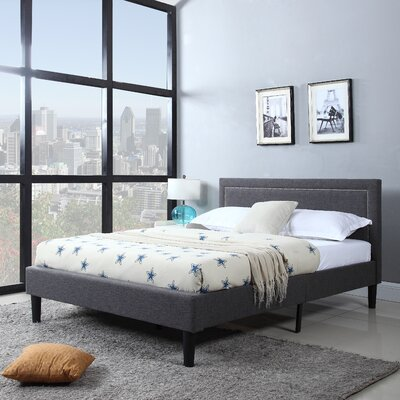 Alvarado Platform Bed Size: King, Color: Grey