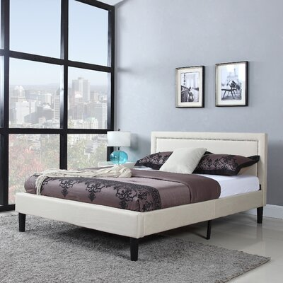 Alvarado Platform Bed Size: Full, Color: Tan