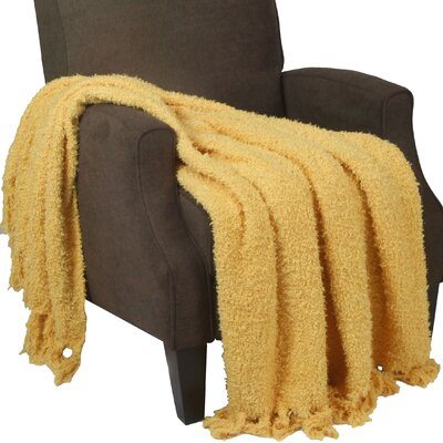 Alyn Fluffy Throw Blanket Color: Mimosa