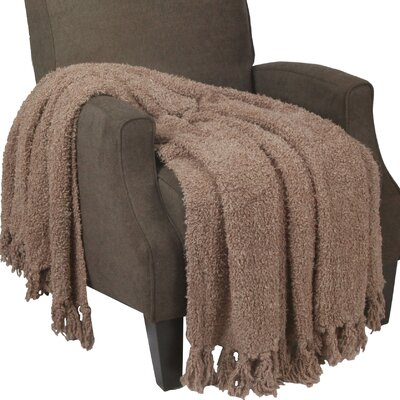 Alyn Fluffy Throw Blanket Color: Amphora