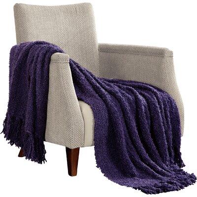Alyn Fluffy Throw Blanket Color: Indigo