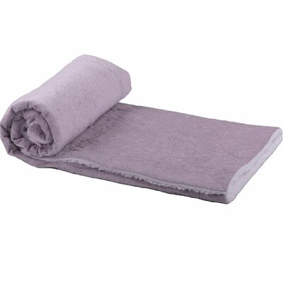 Crawford Lane Embroidered Throw Color: Lilac
