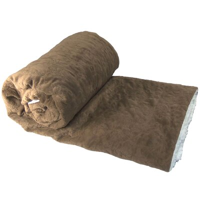 Crawford Lane Embroidered Throw Color: Chocolate