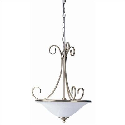 Waveland 2-Light Inverted Pendant Finish: Antique Brass
