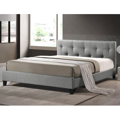 Brookby Place Upholstered Platform Bed Upholstery: Grey, Size: Queen