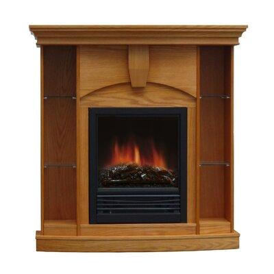 Belford Corner Curio Electric Fireplace Finish: Light Oak