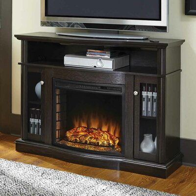 Batley Media 48 TV Stand with Fireplace