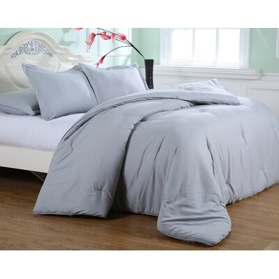 Kelwynne Comforter Set Color: Silver Gray, Size: King