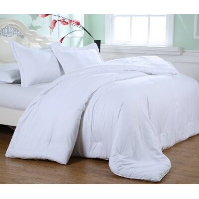 Kelwynne Comforter Set Color: Stark White, Size: King