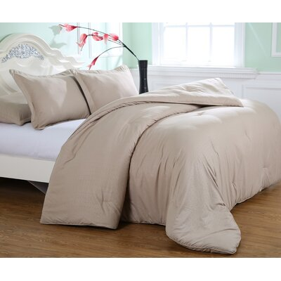 Kelwynne Comforter Set Color: Desert Grain, Size: Full / Queen