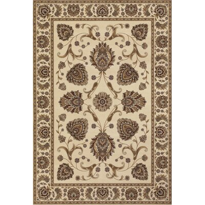 Crabtree Ivory/Brown Area Rug Rug Size: Runner 27 x 710