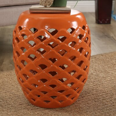 Mamaroneck Ceramic Garden Stool Finish: Orange