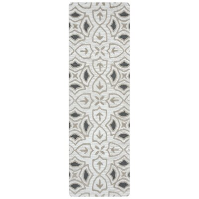 Winona Hand-Tufted Gray Area Rug Rug Size: Runner 26 x 10