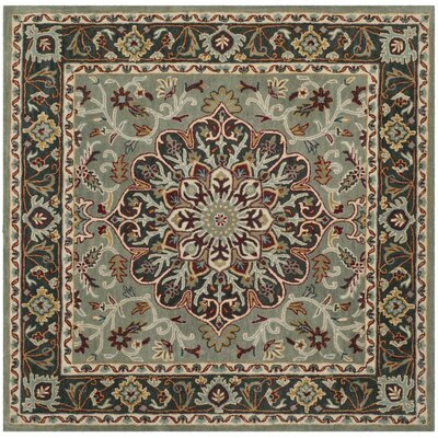 Cranmore Hand-Tufted Gray/Charcoal Area Rug Rug Size: Square 6