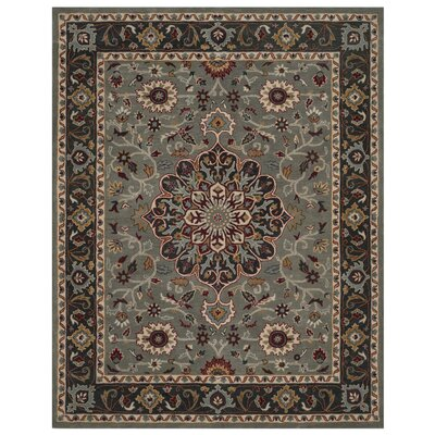 Cranmore Hand-Tufted Gray/Charcoal Area Rug Rug Size: Rectangle 8 x 10