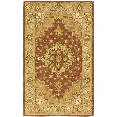 Cranmore Rust/Gold Rug Rug Size: Rectangle 4 x 6