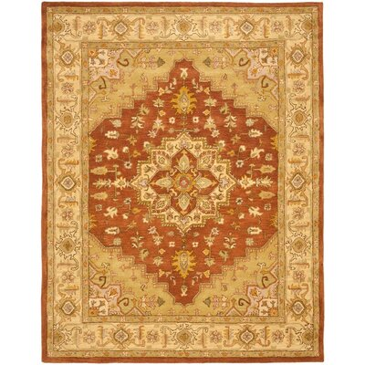 Cranmore Rust/Gold Rug Rug Size: Rectangle 96 x 136