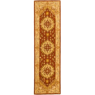 Cranmore Rust/Gold Rug Rug Size: Runner 2'3