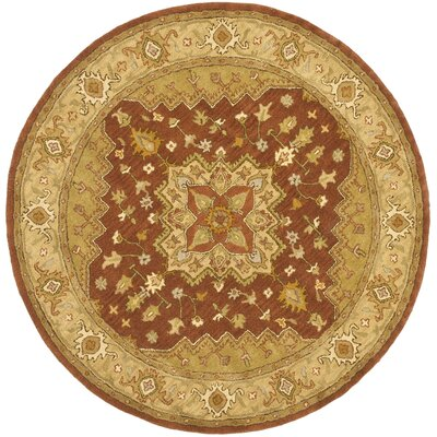Cranmore Rust/Gold Rug Rug Size: Round 6