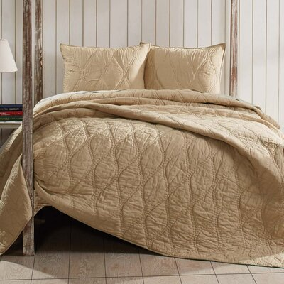 Reese Quilt Size: King, Color: Sand