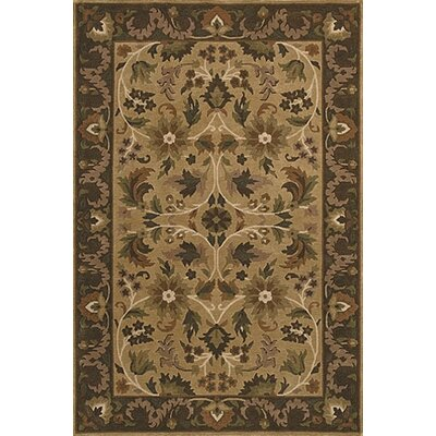 Bill Taupe/Chocolate Area Rug Rug Size: 2 x 3