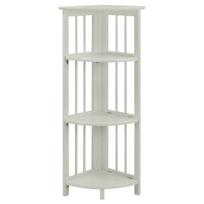 Taube 38 Corner Unit Bookcase Finish: White