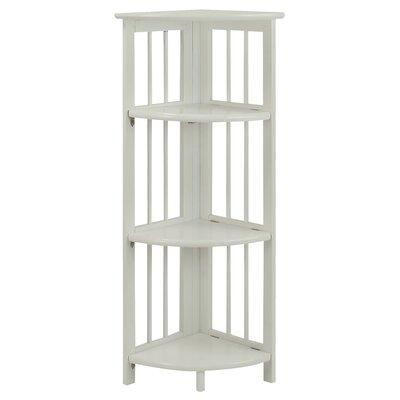 Taube 38 Corner Unit Bookcase Finish: White